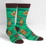Sock it to Me Tiki Toes Mens Crew Socks