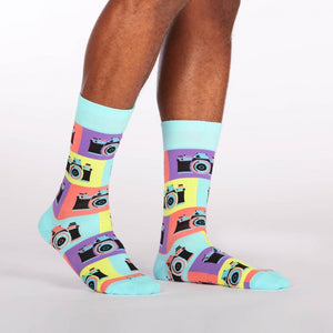 Sock it to Me Say Cheese! Mens Crew