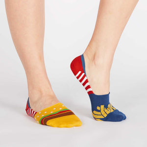 Sock it to Me No Show Burger N Fries Womens Ankle Socks
