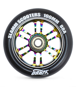 Slamm Scooters Orbit Wheels 100mm Neo Chrome