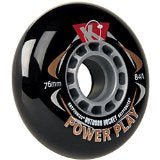 Kryptonics Wheels Powerplay 80mm/84a Black 4 Pack
