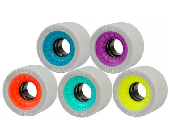 Radar Presto Wheels 59mm Narrow w Black Hub 4 Pack