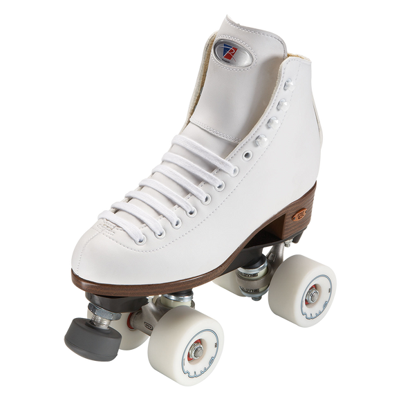 Riedell 111 Angel Skate White w Riva Wheels
