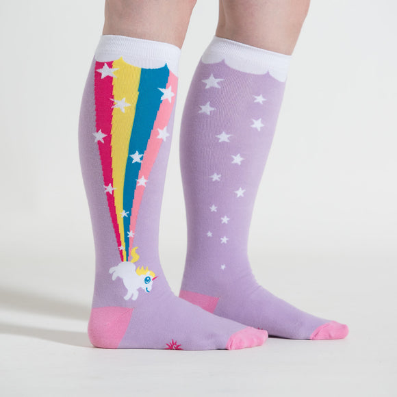 Sock it to Me Rainbow Blast Stretch Knee High Socks