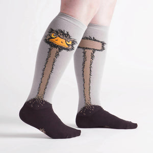 Sock it to Me Ostritch Stretch Knee High Socks
