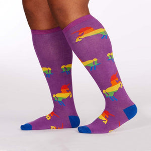 Sock it to Me Pride and Fabulous Stretch Knee High Socks