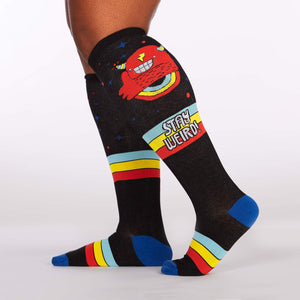 Sock it to Me Stay Weird! Stretch Knee High Socks