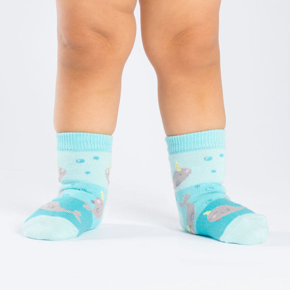 Sock it to Me Unicorn of the Sea Toddler Crew Socks