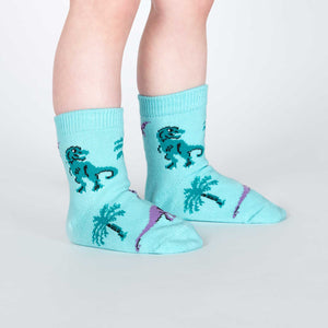 Sock it to Me Land of the Dino Toddler Crew Socks