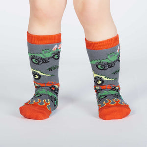 Sock it to Me Monster Truck Toddler Knee High Socks