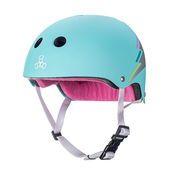 Triple 8 THE Certified Helmet SS Teal Hologram