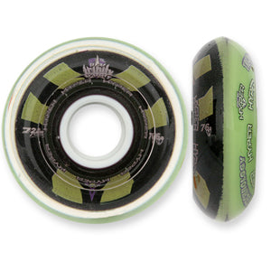 Hyper Wheels Trinity Flex 76a Black Green - Each