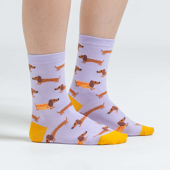 Sock it to Me Hot Dogs Womens Crew Socks