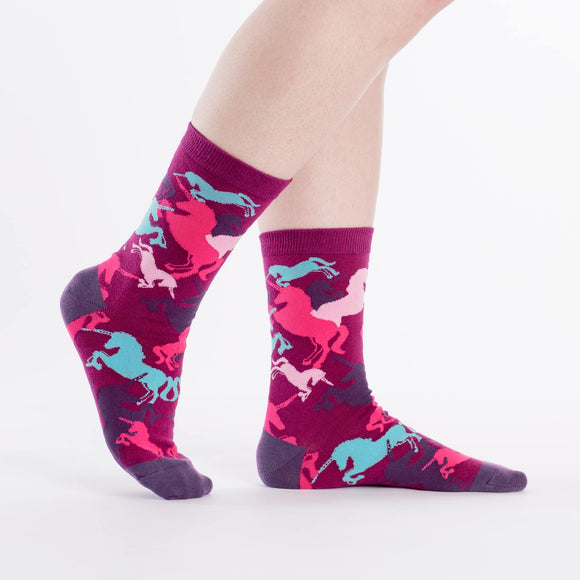 Sock it to Me Mythical Unicorns Womens Crew Socks