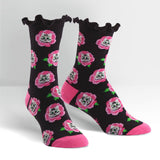 Sock it to Me Cat Buds Womens Crew Socks