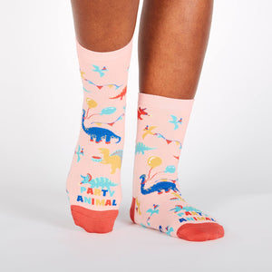 Sock it to Me Party Animal Womens Crew Socks