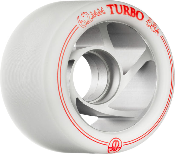 Bones Turbo Wheels 62mm White Right Left 8 Pack