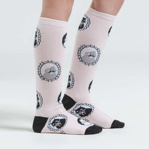 Sock it to Me Cameow Youth Knee High Socks