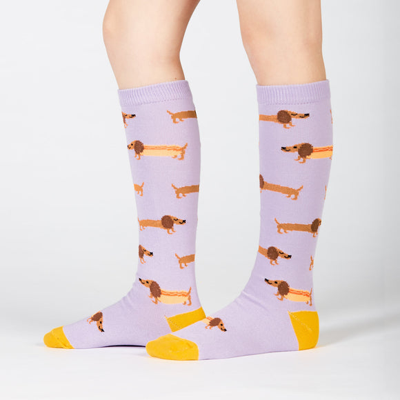 Sock it to Me Hot Dogs Youth Knee High Socks