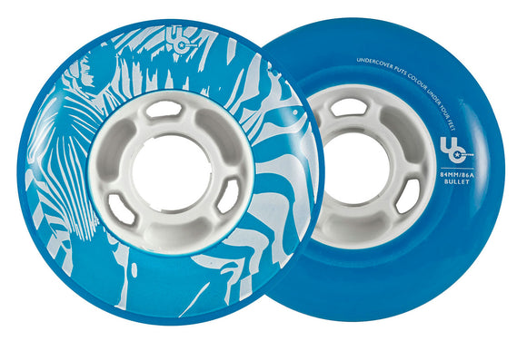 Undercover Wheels Zebra 84mm 86a Blue 4 Pack