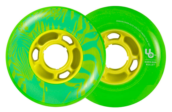 Undercover Wheels Zebra 84mm 88a Green 4 Pack
