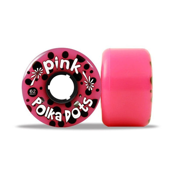 ABEC 11 Wheels Pink Polka Dots 62mm 96a Pink 4 Pack