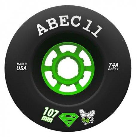 ABEC 11 Wheels SuperFly 107mm 74a Black 4 Pack