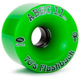 ABEC 11 Wheels 70's Flashback 70mm Green 4 Pack