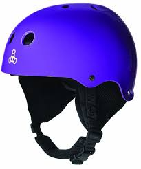 Triple 8 O'School Audio Snow Helmet Purple