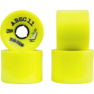 ABEC 11 Wheels Reflex BigZig 75mm 83a Yellow 4 Pack