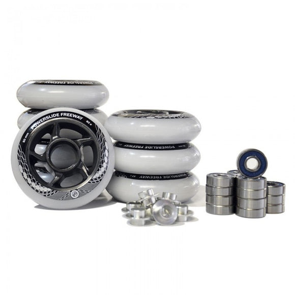 Powerslide Freeway Combo w Bearings and Spacers 8 Pack