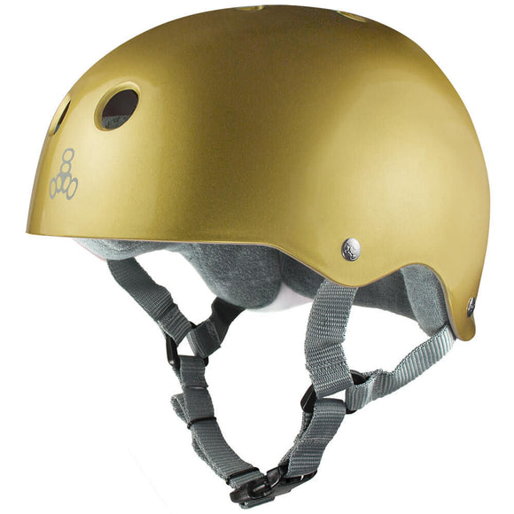 Triple 8 Skate Helmet SS Gold Metallic