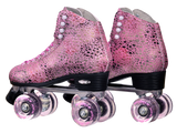 Epic Sparkle Pink Roller Skates Now with free skate bag