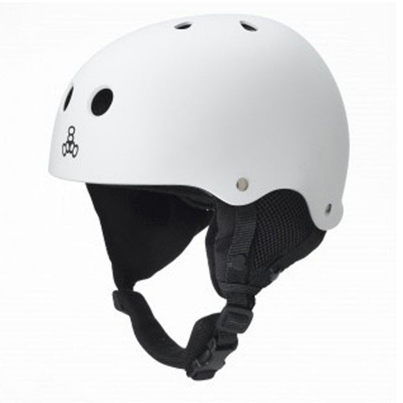 Triple 8 O'School Snow Helmet White Rubber
