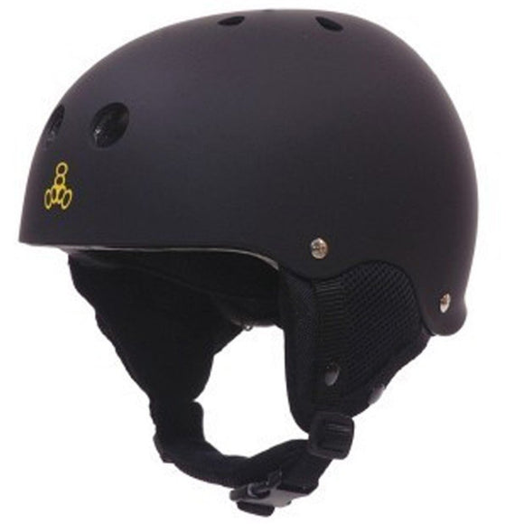 Triple 8 O'School Snow Helmet Black Rubber