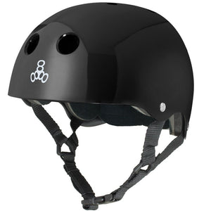 Triple 8 Skate Helmet SS Black Gloss