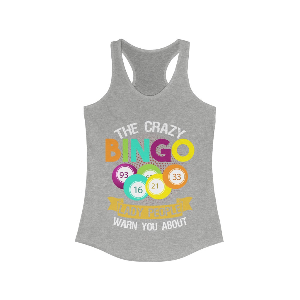 The Crazy Bingo Lady People Warned You About Lucky Tank Top Shirt Women