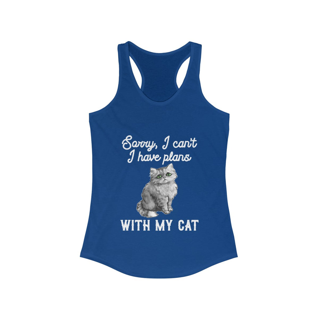 Sorry, I Can't I Have Plans With My Cat Lover Tank Top Shirt Women