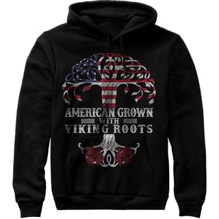 American Grown with Viking Roots Shirt - Unisex Sweatshirt Hoodie