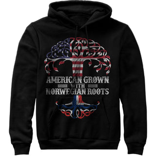 American Grown with Norwegian Roots Shirt - Norway Unisex Sweatshirt Hoodie