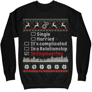 Engineering Funny Holiday Ugly Christmas Sweater Engineer Shirt - Noel Merry Xmas Sweatshirt Hoodie
