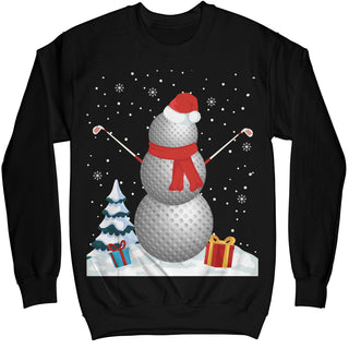 Golf Snowman Christmas Ugly Sweater Shirt - Noel Merry Xmas Sweatshirt Hoodie
