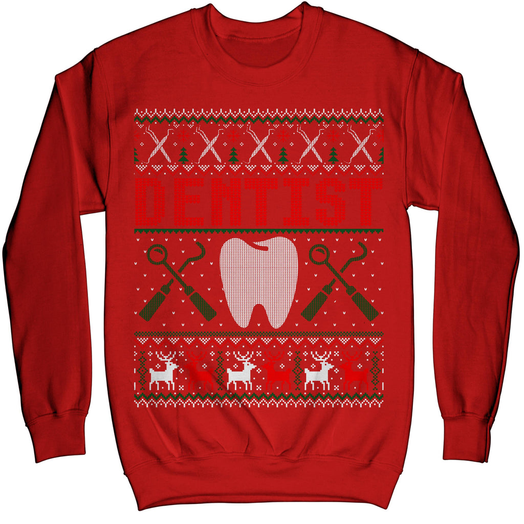 Holiday Gift for Dentist Christmas Funny Ugly Xmas Sweater Sweatshirt