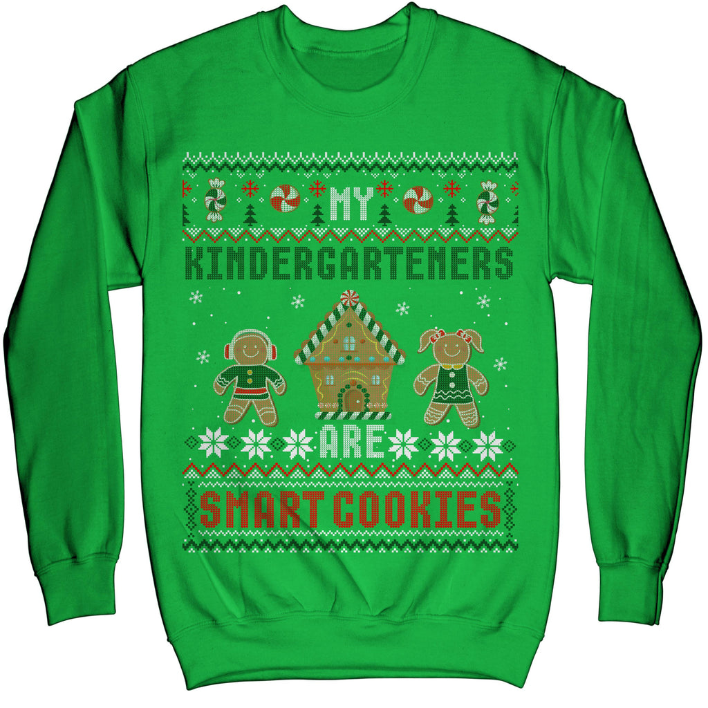 Kindergarten Teacher Christmas Cute Smart Cookies Ugly Sweater Sweatshirt