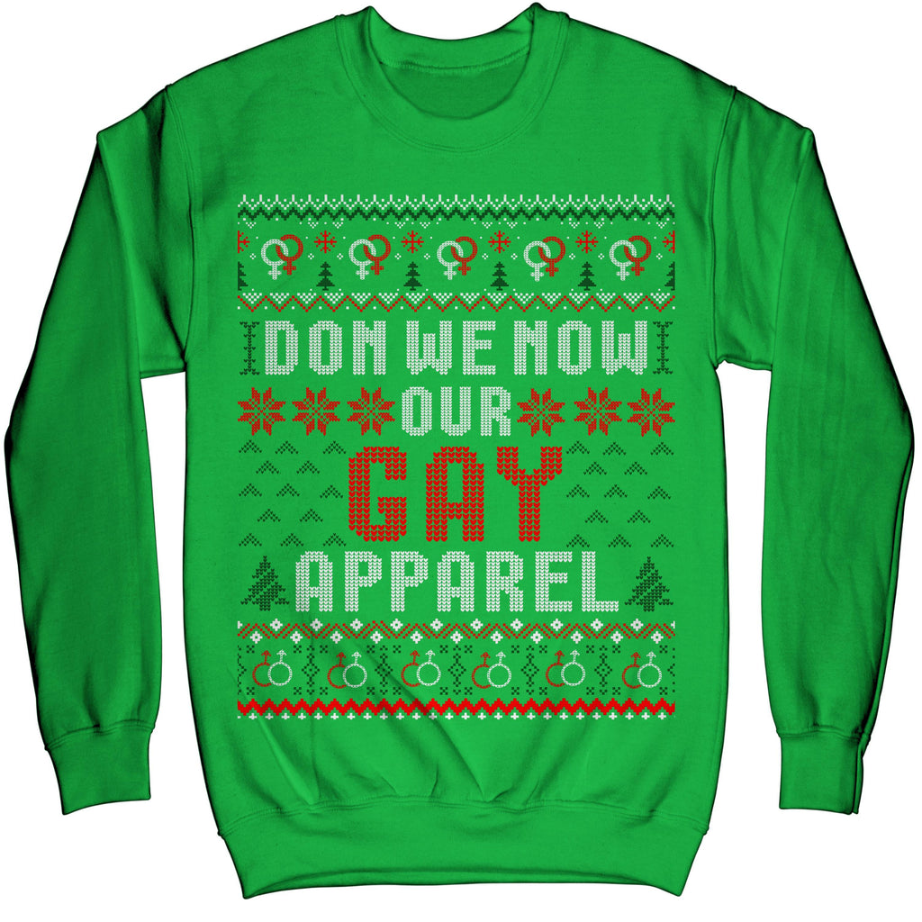 LGBT Pride Christmas Don We Now Our Gay Apparel Ugly Sweater Sweatshirt