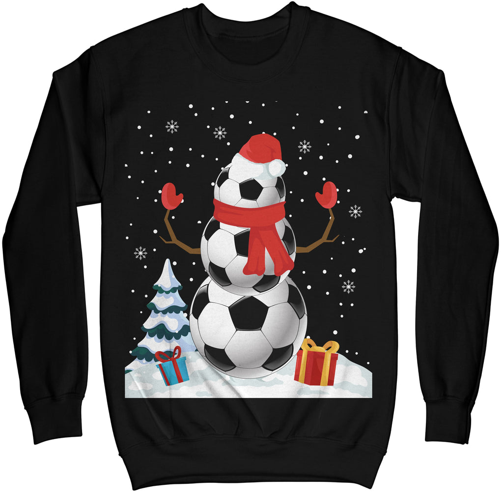 4a61e3a2c Football Soccer Snowman Christmas Ugly Sweater Shirt - Noel Merry Xmas  Sweatshirt Hoodie