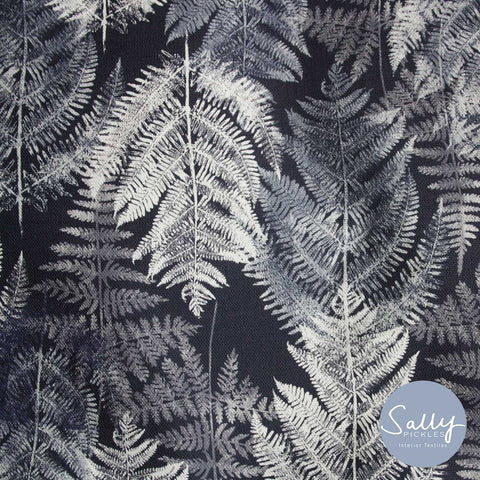 Fern - Dark charcoal Fabric