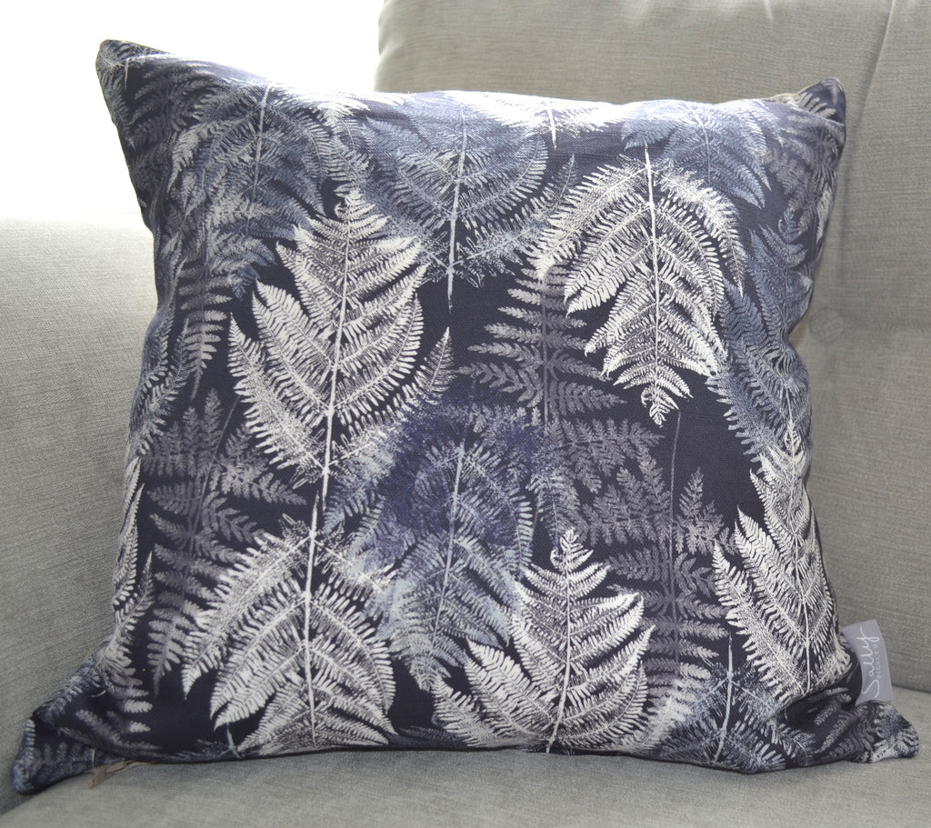 Charcoal Fern Cushion