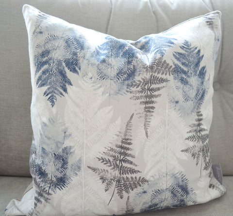 Dove Grey Fern Cushion