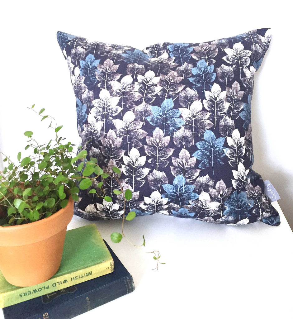 Leaf Stem - Charcoal Cushion